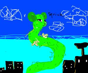Long green rat
