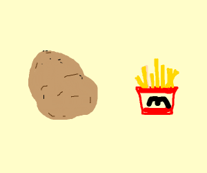 Potatoes and French fries