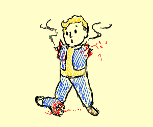 Fallout Blond Man lost an arm