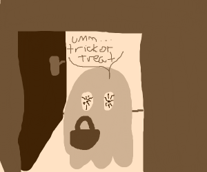 A high ghost trick or treating