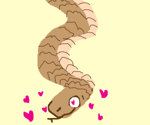 A snake falls in love with someone off screen