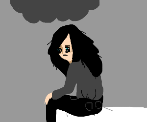 Girl with depression.