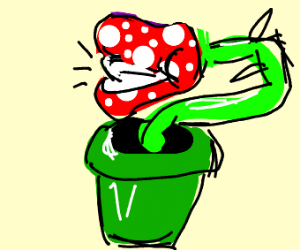 the chomper plant from mario