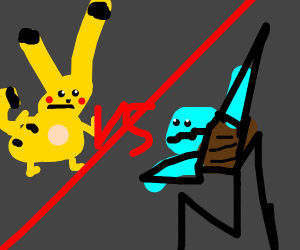 Pikachu encounters Squirtle
