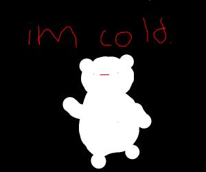 Polar bear in a dark place...