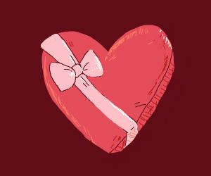 really pretty chocolate heart box