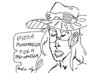singing about pizza