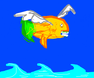 Parrotfish Flying
