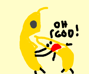 A banana eating a banana