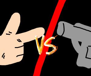 Finger gun vs real gun