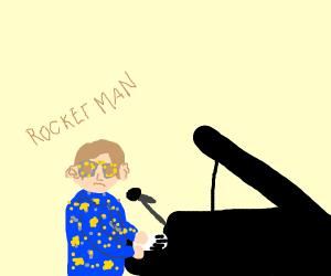 Elton John has a lazy ear