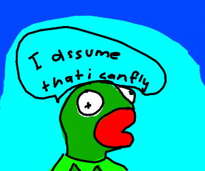 kermit incorrectly assumes he can fly