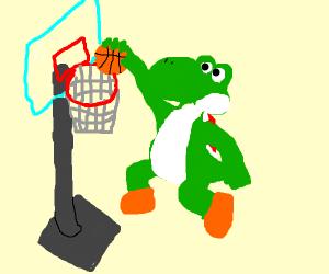 Yoshi playing basketball