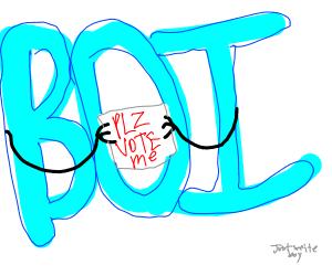 a blue boi needs ur vote