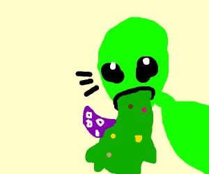 Alien Vomiting