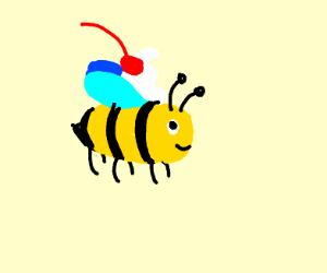 Bee pretending to be food