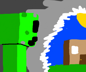 Creeper...aw man.......sO WE BACK IN THE MINE