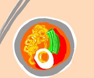 kimchi noodles
