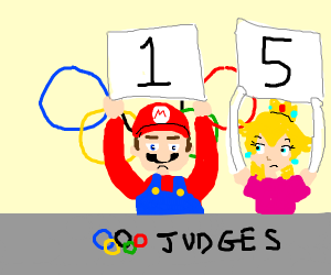 Mario judges the Olympics