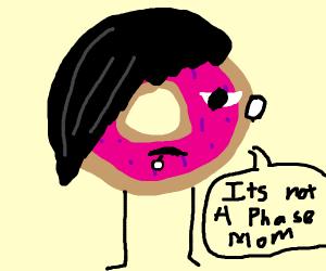 Edgy doughnut