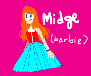 Red haired barbie