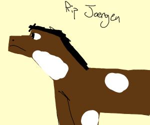 RIP pewdiepie's minecraft horse Joergen