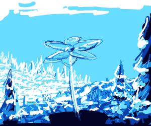 Serene Ice-Flower
