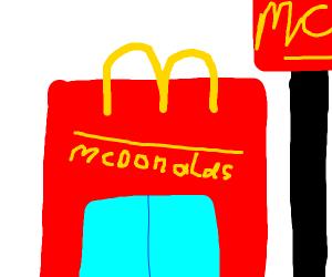 A McD's restaurant