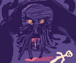 Cthulhu eats human legs