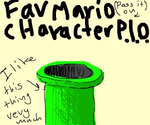 favourite SuperMario Bros. Character (p.i.o.)