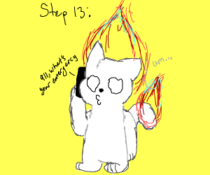 Step 12: Set your back on fire