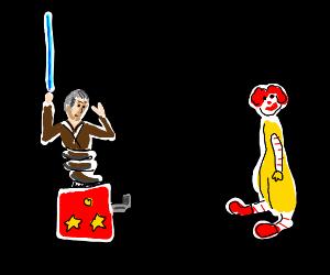 Jedi jackinthebox is watching ronald mcdonald