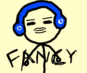 Fancy guy with michrophone