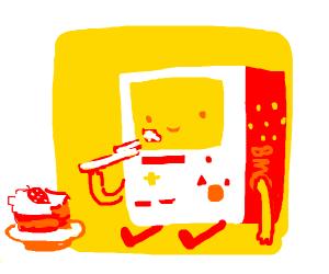 BMO eating cake