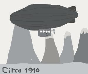 Zeppelin over Mountains