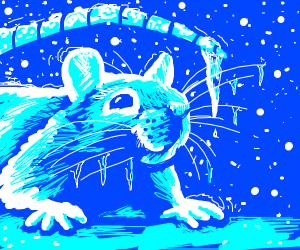 Frosty mammal