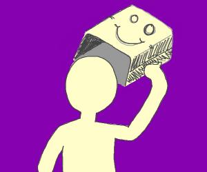 Default Avatar removes the paper bag