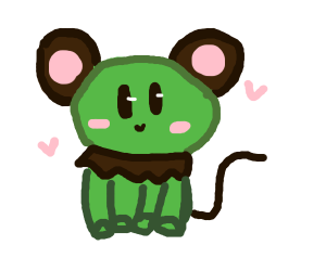 frog-mouse-mole hybrid thing. but it's cute