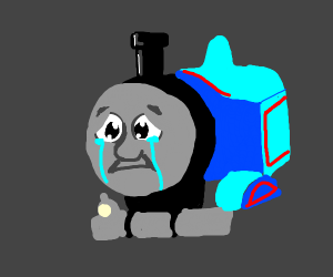 It was time for Thomas to leave... - Drawception