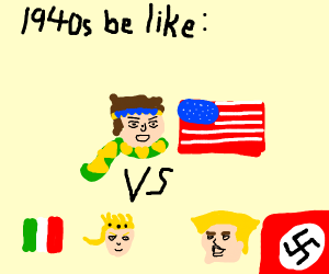 WW2 but its an anime