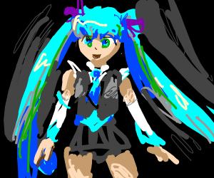 Hatsune Miku ( haha im a weeb help )