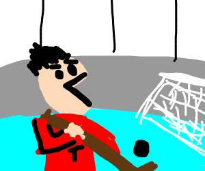 South Park Canadian Plays hockey