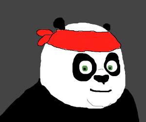 Kung fu panda with a bandanna