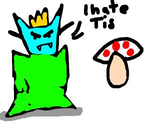 odd creature king hates egg mushroom