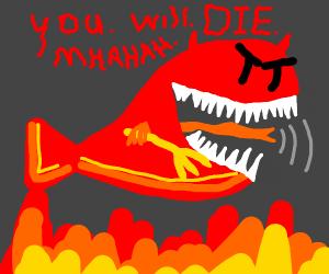 Veiny satan-fish maniacally laughs