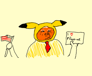 donald trump loves pikatue