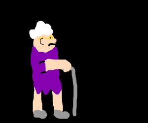 Curious granny