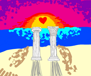 Even greek columns feel love