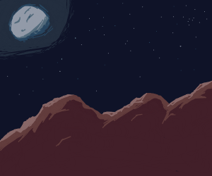 Night sky over mountains (this is cool)
