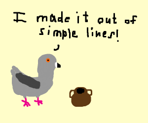 Bird made pot of simple lines